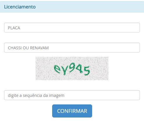 Consulta Licenciamento Ceará