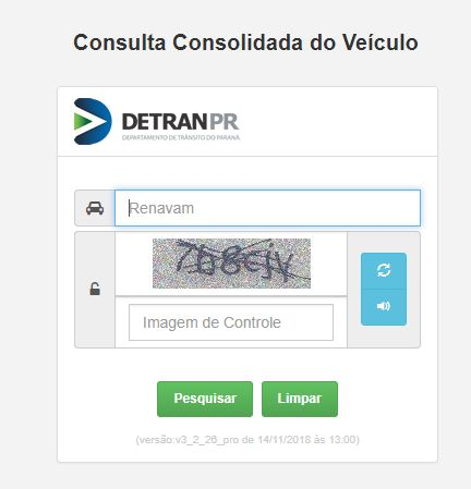 Consulta Licenciamento 2022 Paraná